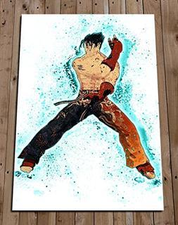 TEKKEN - JIN KAZAMA Watercolour Art Print Poster Wall Decor