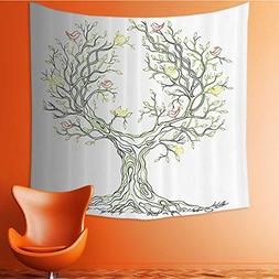 Nalahomeqq Tree of Life Decor Collection Tree with Leaves an