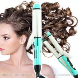 USA 2in1 Hair Straightener Curler Flat Iron Ceramic Iron Wav