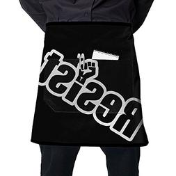 Yaerta Waist Apron With 2 Pockets Resist Fist Restaurant Hal