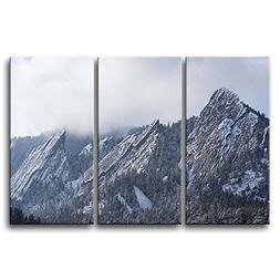 So Crazy Art 3 Pieces Wall Art Painting Flatirons Colorado C