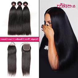 West Kiss Hair Brazilian Straight Virgin Remy Human Hair Ext