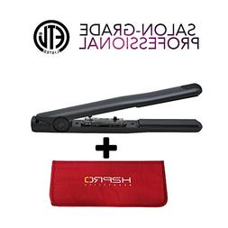 "Wrapped-in-Real Onyx Stone Ceramic Flat Iron 1"" w/ FREE THER"